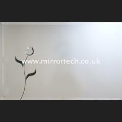 MT04 Clear Flower Black Leaf Mirror