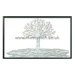 MT205 White Framed White Tree