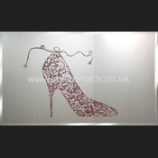 MT 44 Red Glitter Shoe On Mirror