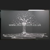 MTB85 Silver Glitter Swarovski Tree On Black