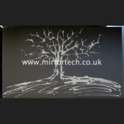 MTB-80 Silver Swarovski Tree On Black
