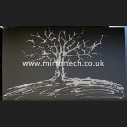 MTB-80 Silver Swarovski Tree On Black