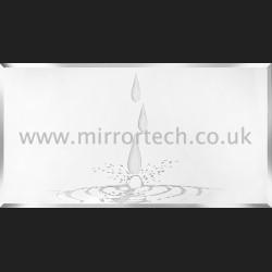 MT103 Tears & Diamonds Silver Glitter On Mirror