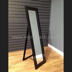LED916CHVBLK - LED Cheval Mirror - Black Frame