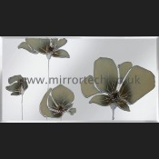 MT 505 Cream Poppies On Mirror