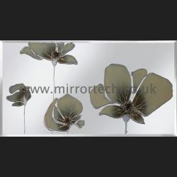 MT 505 Cream Poppies On Mirror
