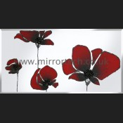 MT 509 Red Poppies On Mirror
